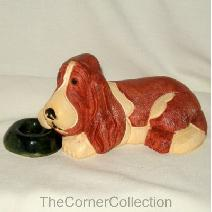 aR#123-2032 Bassethound with Bowl Image